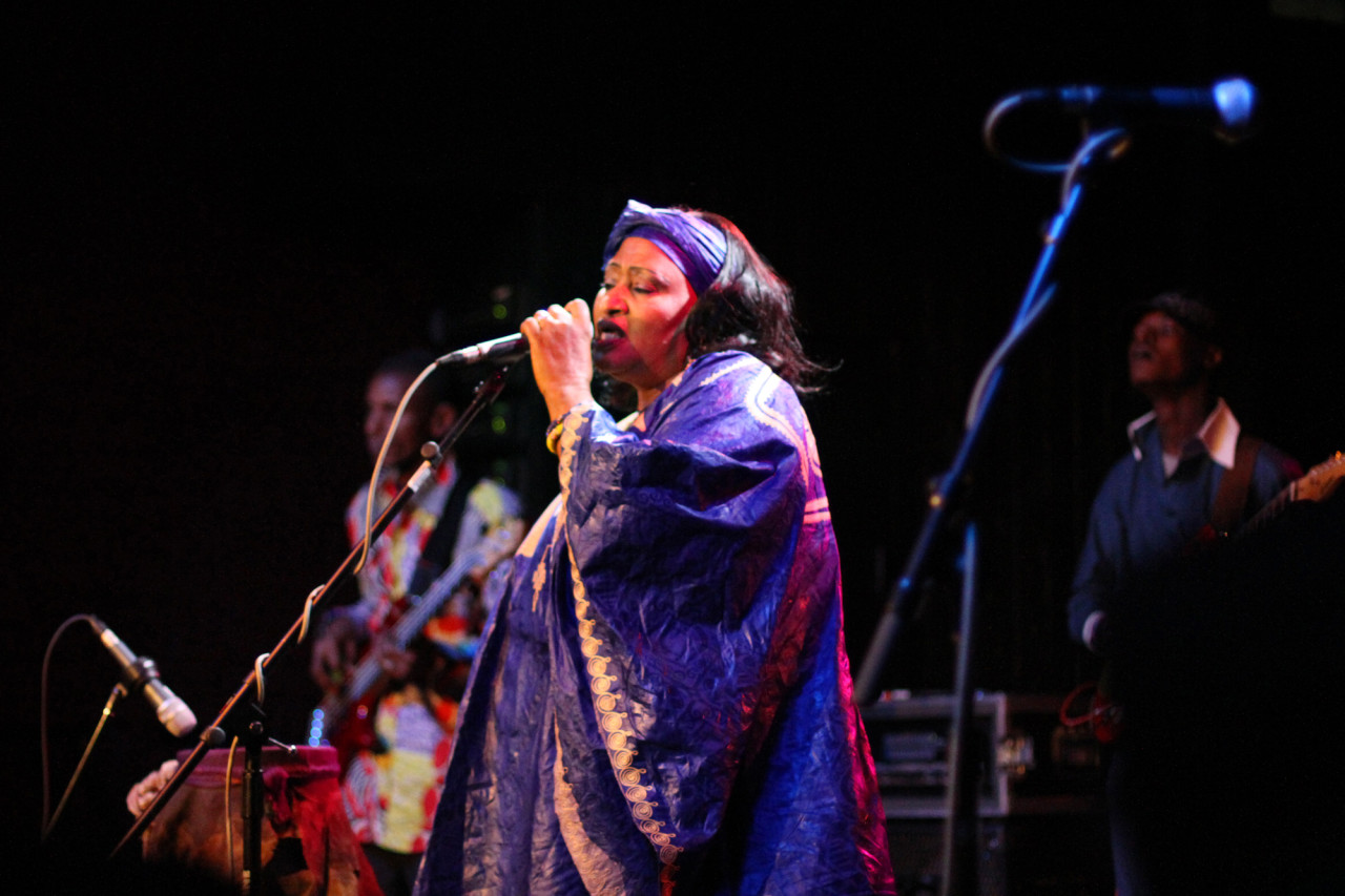 Khaira Arby performs at the NPR Music day party at The Parish during South By Southwest in Austin, Texas on March 17, 2011.