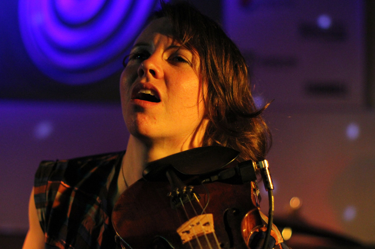 Sarah Neufeld performs with The Luyas at Spill during South By Southwest in Austin, Texas on March 19, 2011.