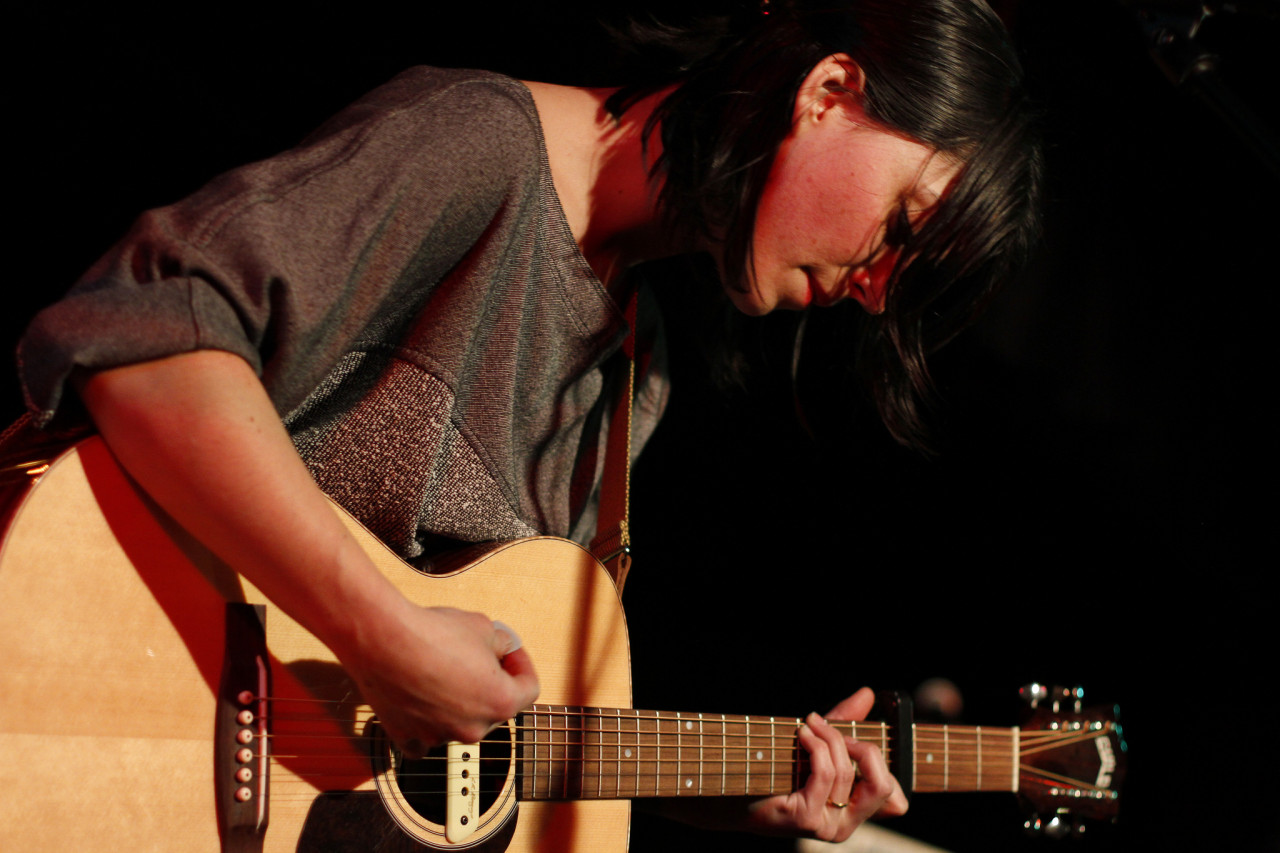 Sharon Van Etten performs at Black Cat in Washington, DC on Feb. 11, 2012.