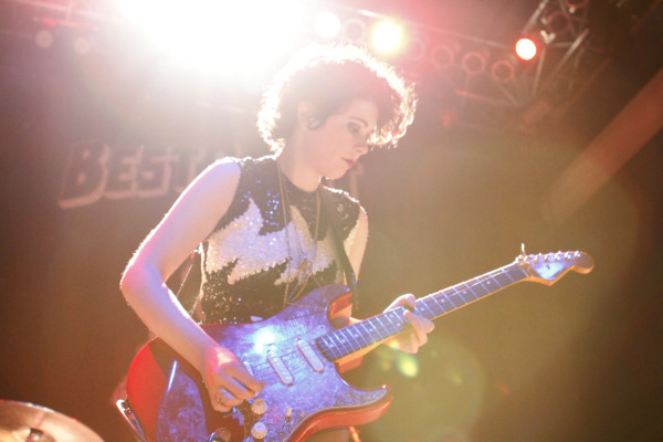 Those Darlins performs 9:30 Club in Washington, DC on July 15, 2012.