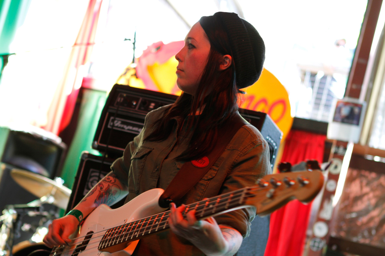 Girls Names performs at Flamingo Cafe during South By Southwest in Austin, Texas on March 15, 2013.