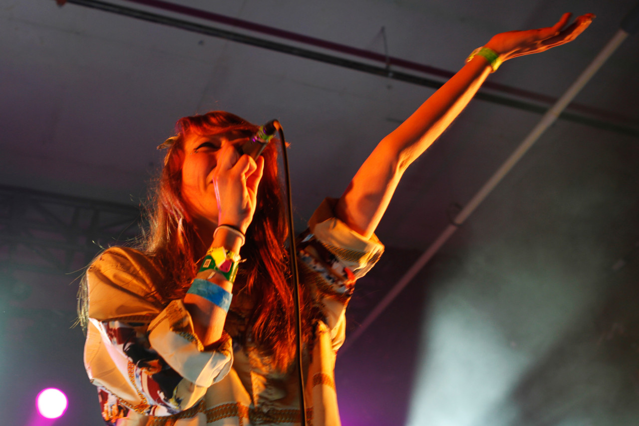 Kitty Pryde performs at the Hype Hotel during South By Southwest in Austin, Texas on March 15, 2013.
