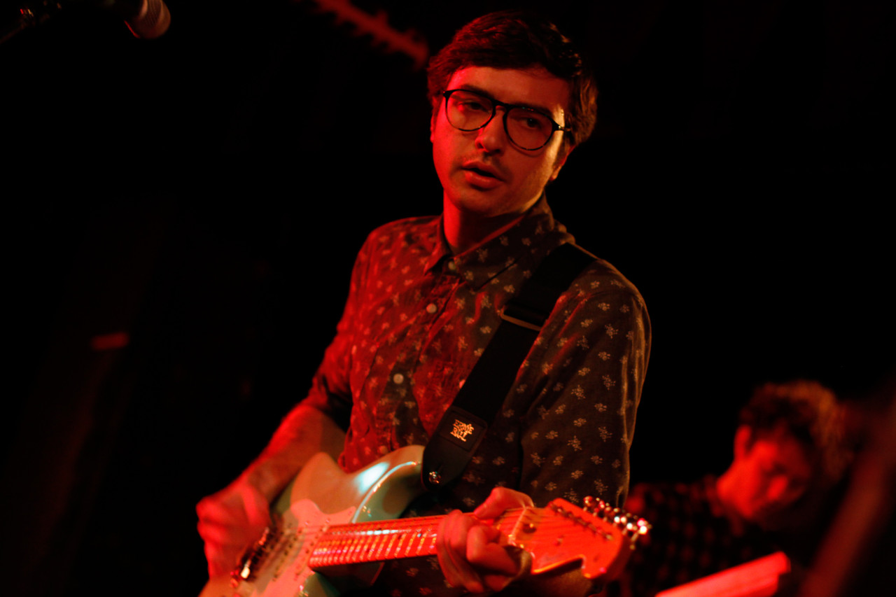 Real Estate performs at Black Cat in Washington, DC on Jan. 22, 2012.