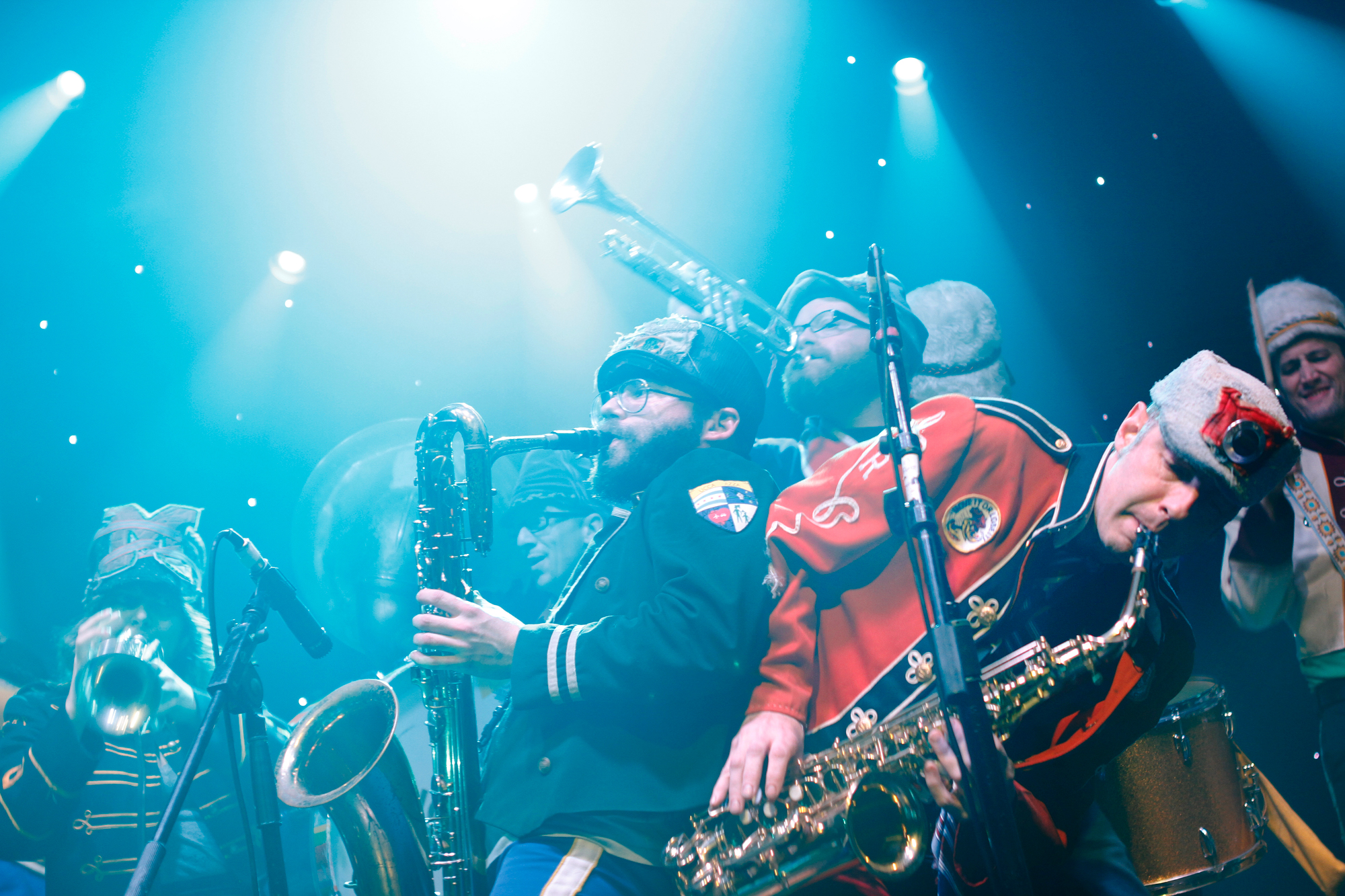 Mucca Pazza plays at globalFEST 2013 at Webster Hall in New York, NY on January 13, 2013.