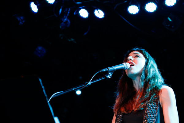 Julia Holter plays at (le) Poisson Rouge in New York, NY on July 12, 2013.