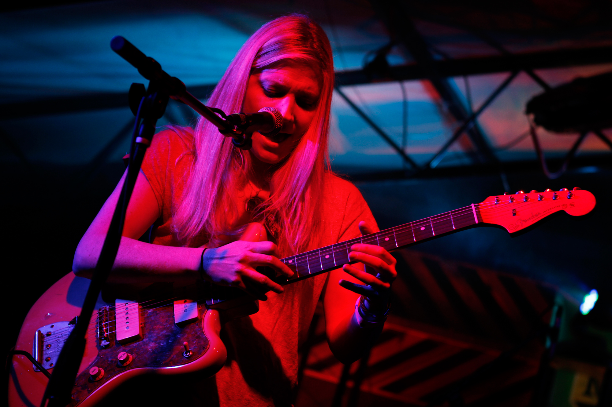 Marnie Stern performs at the Pitchfork showcase at The Mohawk during South By Southwest in Austin, Texas on March 12, 2013.