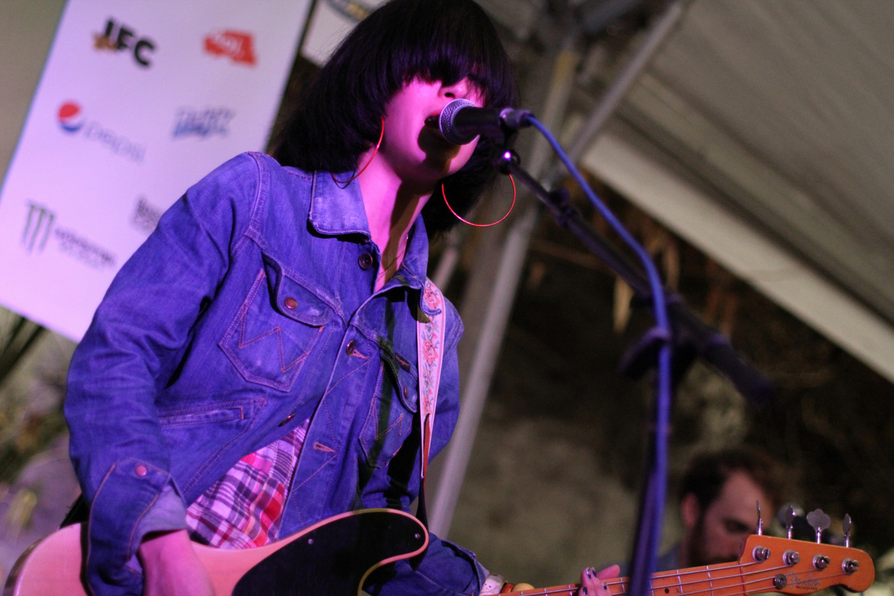 Yuck performs at Club de Ville during South By Southwest in Austin, Texas on March 16, 2011.