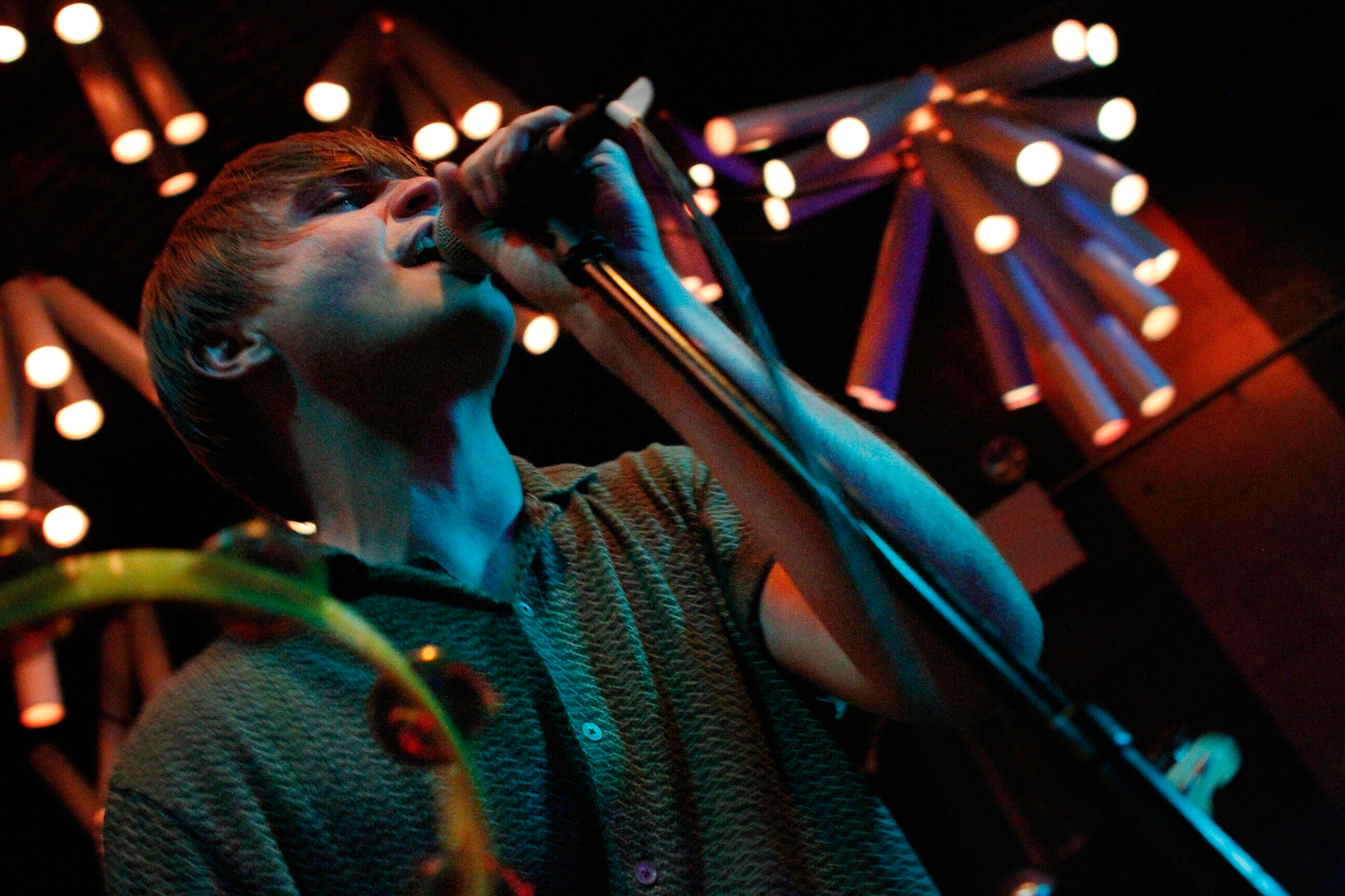 Merchandise plays Glasslands in Brooklyn, NY on June 21, 2014.