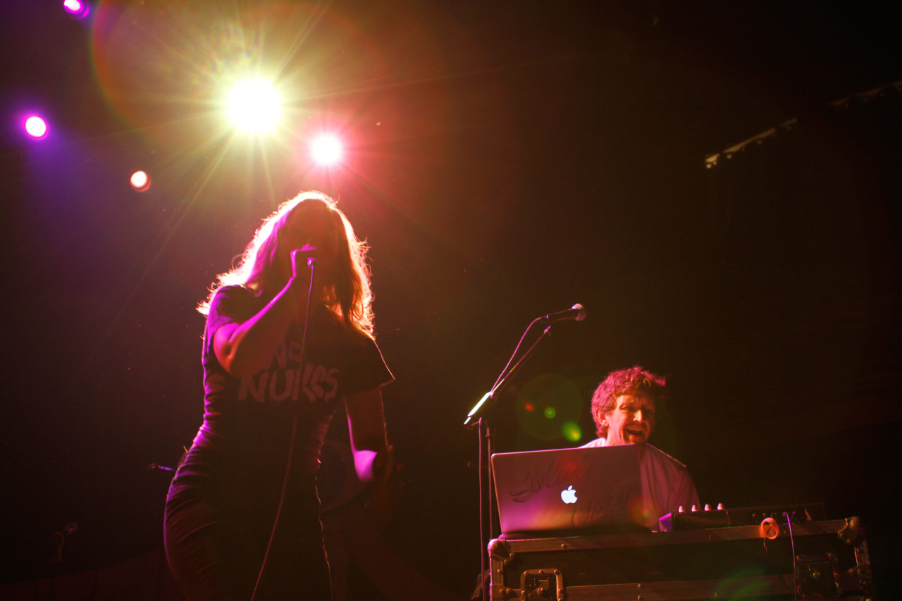 Sylvan Esso plays at Webster Hall in New York, NY on June 22, 2014.