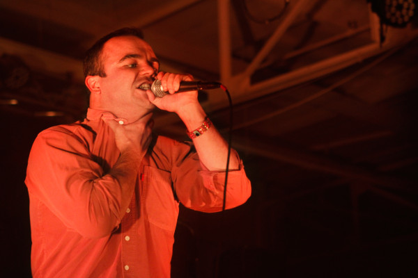 Future Islands plays at House Of Vans in Williamsburg, Brooklyn, NY on Aug. 7, 2014.
