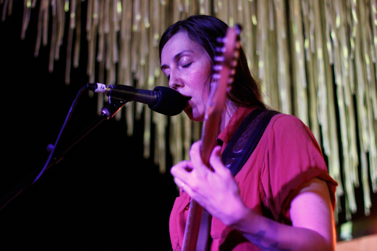 She Keeps Bees plays at Cameo Gallery in Williamsburg, Brooklyn, NY on Aug. 21, 2014.