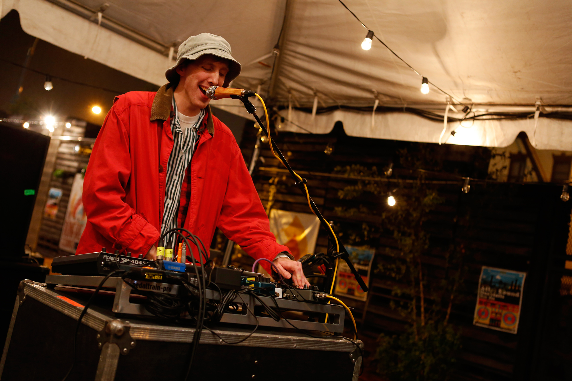 Atlas Sound performs at the Noisey\Jansport party at Greenwood Park in Brooklyn, New York on Sept. 12, 2014.