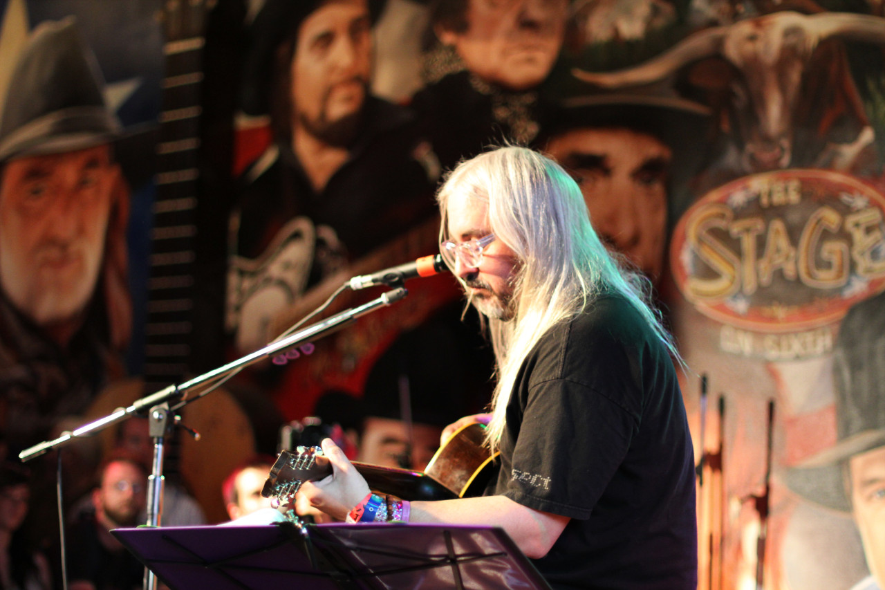 J. Mascis performs at the Paste showcase at the Stage on Sixth during South By Southwest in Austin, Texas on March 17, 2011.