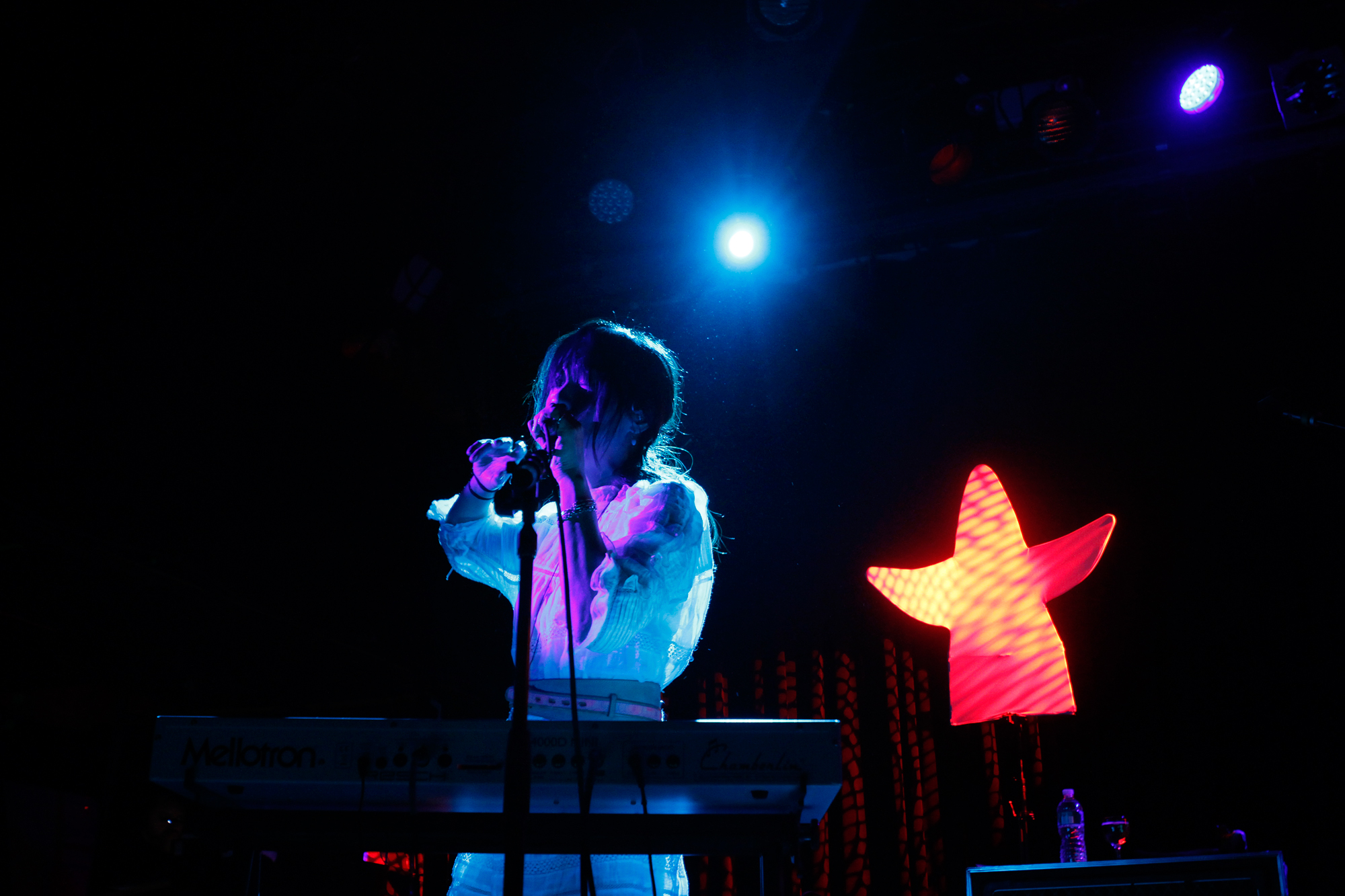 Blonde Redhead plays at Music Hall Of Williamsburg in Williamsburg, Brooklyn NY on Dec. 2, 2014.
