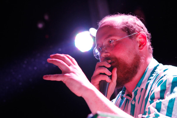 Dan Deacon plays at Rough Trade in Williamsburg, Brooklyn, NY on Feb. 25, 2015.