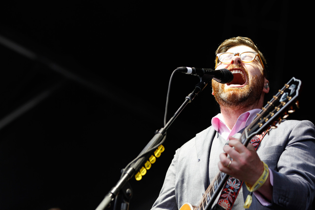 The Decemberists' Colin Meloy performs on the Honda Stage at Governors Ball on Randall's Island, New York on June 5, 2015. (© Michael Katzif – Do not use or republish without prior consent.)