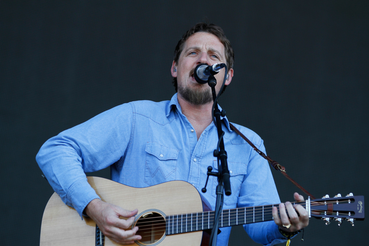 Sturgill Simpson performs on the GovBallNYC stage at Governors Ball on Randall's Island, New York, on June 7, 2015. (© Michael Katzif – Do not use or republish without prior consent.)