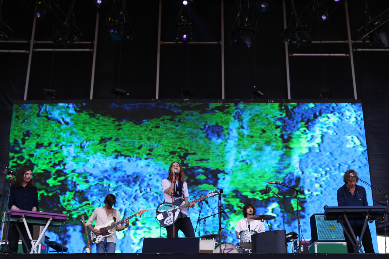 Tame Impala performs on the GovBallNYC stage at Governors Ball on Randall's Island, New York, on June 7, 2015. (© Michael Katzif – Do not use or republish without prior consent.)