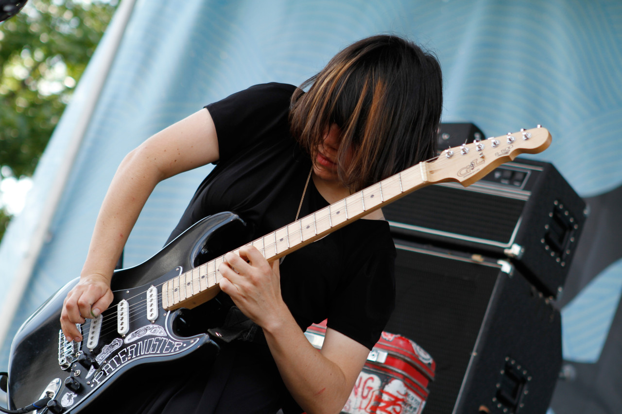 Screaming Females performs at Village Voice's 4Knots Festival at Pier 84 in New York, NY on July 11, 2015. (© Michael Katzif – Do not use or republish without prior consent.)