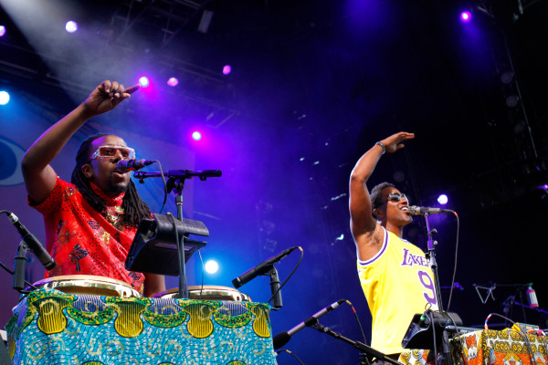 Shabazz Palaces performs at Celebrate Brooklyn at Prospect Park in Brooklyn, NY on Aug. 8, 2015. (© Michael Katzif – Do not use or republish without prior consent.)