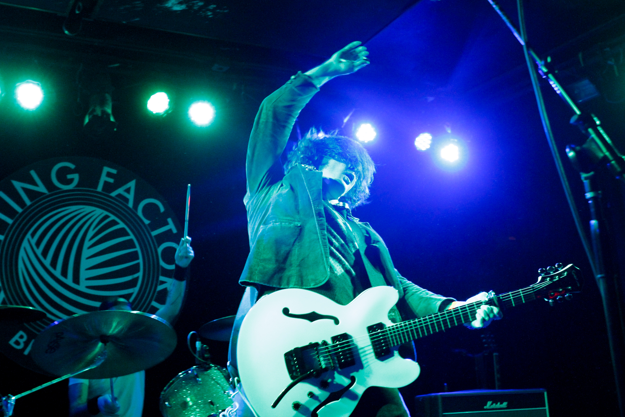 Beach Slang plays at Knitting Factory in Brooklyn, NY on Dec. 17, 2015. (© Michael Katzif - Do not use or republish without prior consent.)