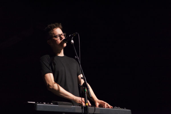 Ryan Lott of Son Lux plays at Brooklyn Steel in Williamsburg, Brooklyn, New York on March 22, 2018. (© Michael Katzif - Do not use or republish without prior consent.)