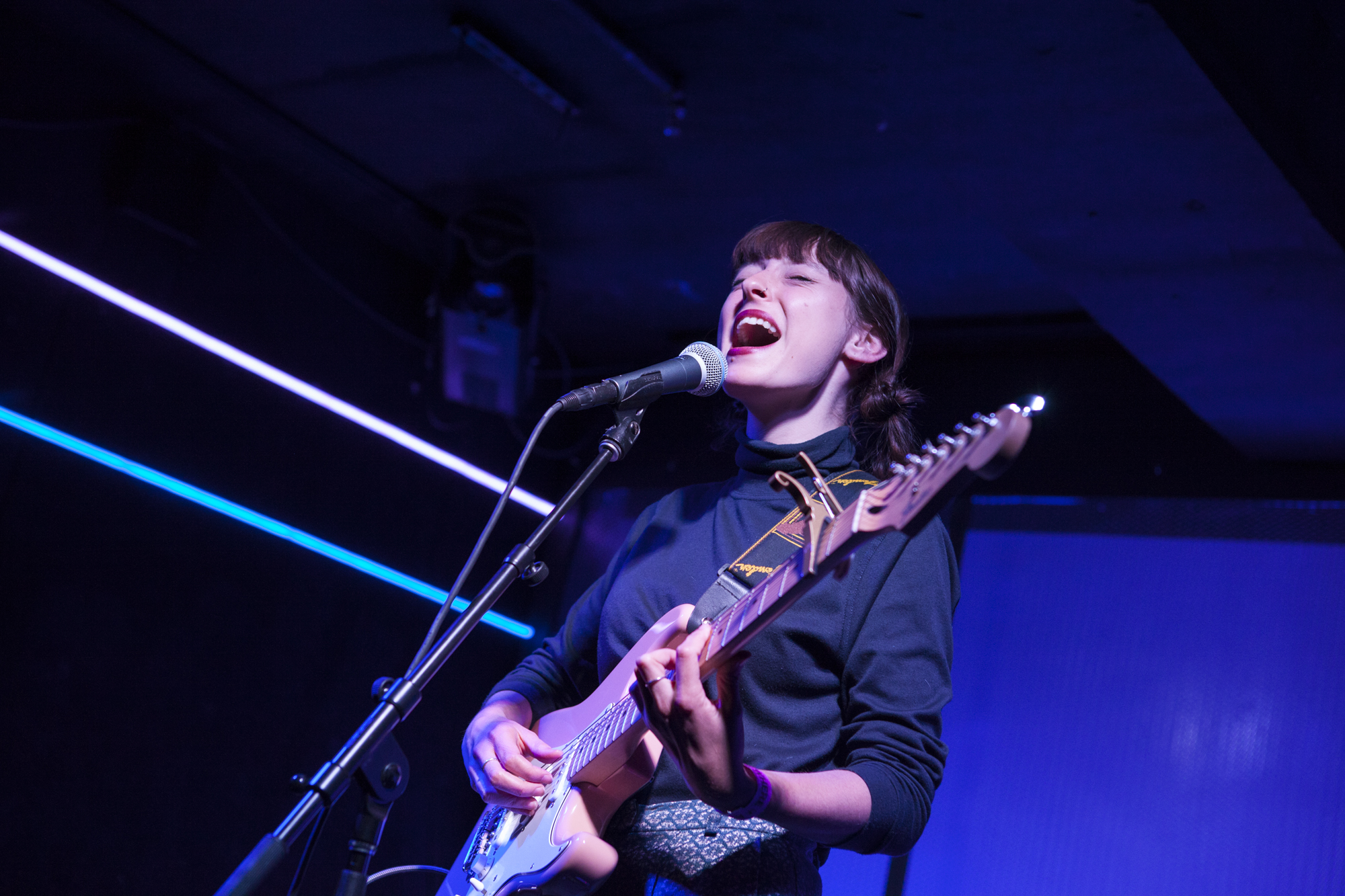 Stella Donnellly plays at Elsewhere - Zone One in Bushwick, Brooklyn, New York on March 19, 2018. (© Michael Katzif - Do not use or republish without prior consent.)