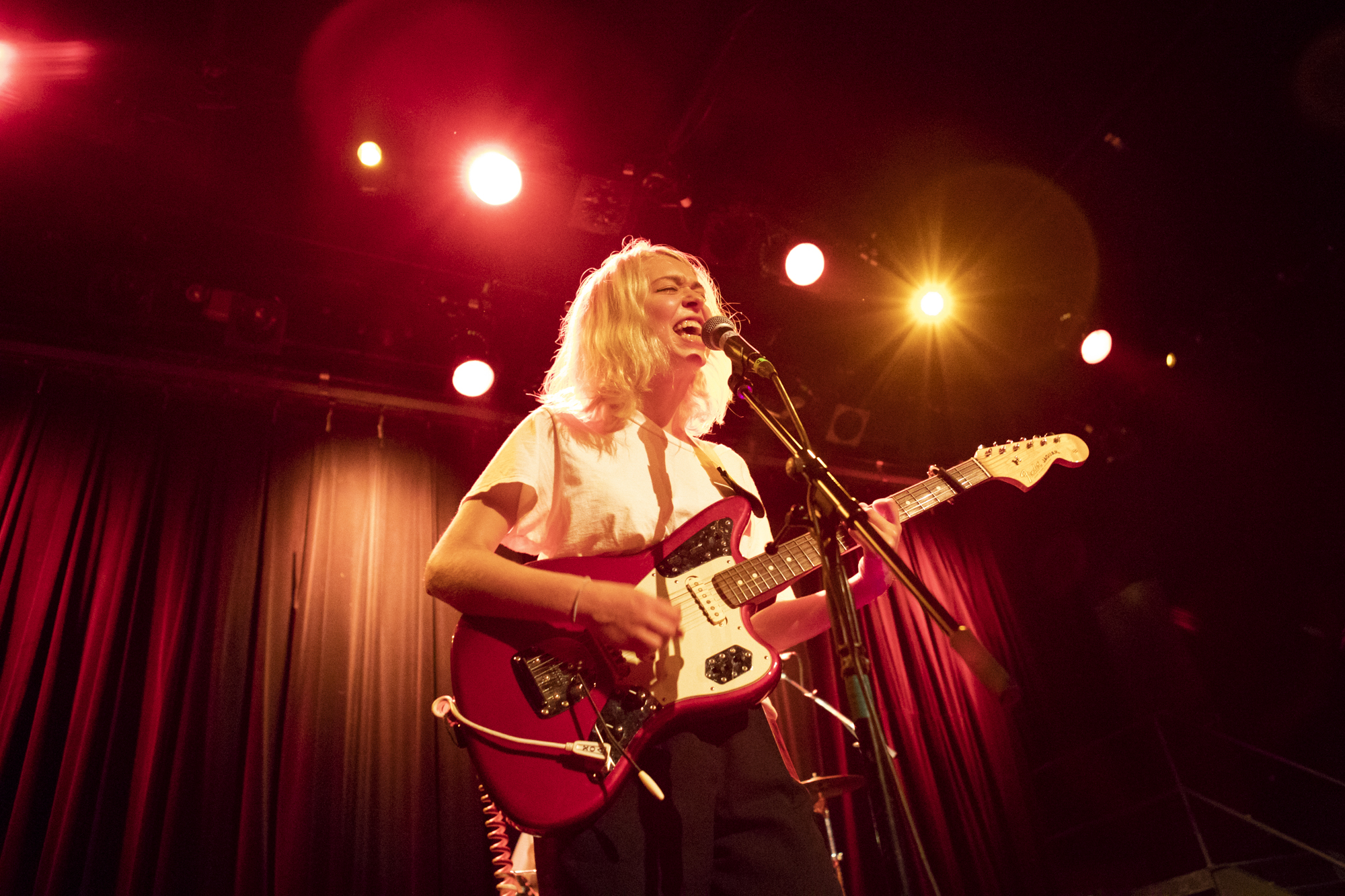 Snail Mail plays during Northside Festival at Music Hall Of Williamsburg in Williamsburg, Brooklyn, New York on June 7, 2018. (© Michael Katzif - Do not use or republish without prior consent.)